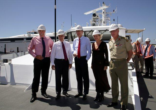 Austal welcomes high powered defence delegation