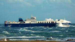 Searoad Mersey ii at sea