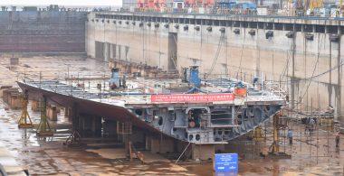 Stena Line's new Belfast-bound ship taking shape in China