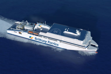 Brittany Ferries' LNG-powered cruise ferry <em>Honfleur</em> launched