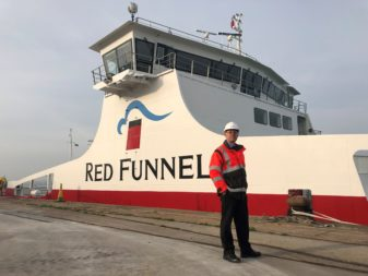 Red Funnel's new freight ferry has arrived in Southampton
