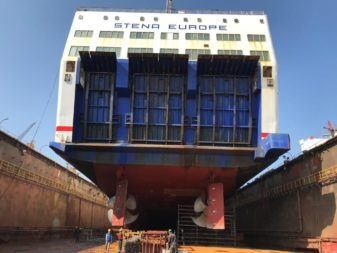 <em>Stena Europe </em> undergoes refit in Turkey